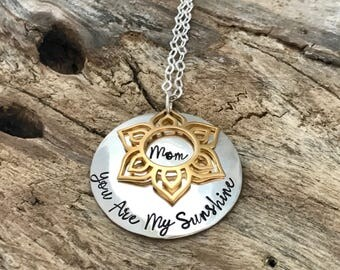 Sunshine Necklace | Gift For Mother | Gift For Daughter | Granddaughter Gift | Gifts For Mom | Daughter Necklace | Granddaughter Necklaces