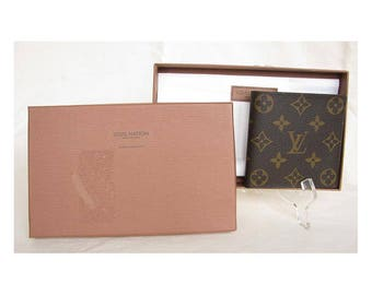 Vintage 1990s LOUIS VUITTON Wallet Monogram Canvas & Leather UNUSED in Box