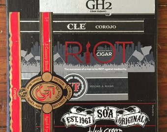 Cigar Band Collage Coaster: Red Riot