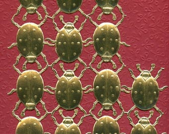 LADYBUGS, DRESDENS, ladybug Dresdens, Gold Foil Ladybugs, Die Cut Ladybugs, Ladybug Die Cuts, Gold Ladybugs, Large Ladybugs, Dresdens