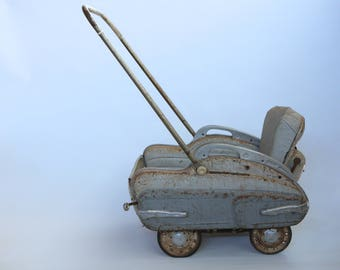 Vintage Giordani doll's pushchair, 1950s-1960s