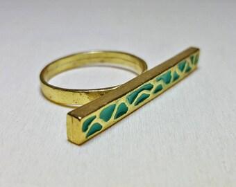 Dainty Rings for Women, Bar Ring, Modern Ring Women, Line Ring, Bar Ring Sterling Silver, Dainty Ring, Modern Ring, Animal Print Ring