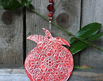 Pomegranate, Wall art Pomegranate, Prosperity & Abundance symbols, Fertility, Ceramic pomegranate,Wall hanging,Wall Decor, Pomegranate decor
