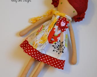 Cloth Doll - Red Haired Girl