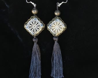 Fortune. Statement Victorian influenced tassel earrings.
