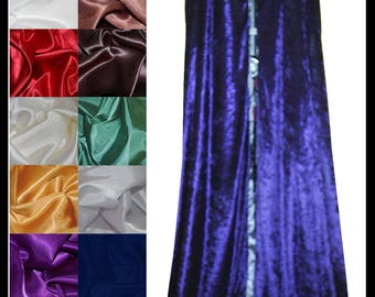 Purple Crushed Velvet Cloak lined with a Shimmer Satin of your choice. Ideal for LARP LRP Medieval Cosplay Costume. NEW!