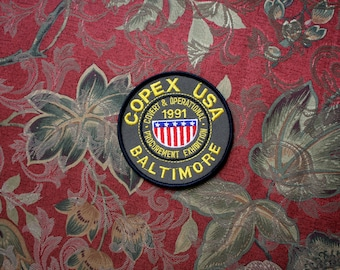 Vintage Copex USA Embroidered Patch. 90s Rare Arms Dealer Gun Show Covert Operational Procurement Exhibition Circle Patch