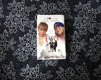It Takes Two Tape. Classic 90s Kid Nostalgia Mary-Kate And Ashley Movie. It Takes Two Clamshell VHS Movie. Kids Classic Olsen Twins VHS