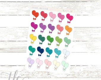 Balloon Multi-Color Functional Planner Stickers