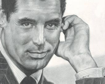 Drawing Print of Cary Grant (2005)