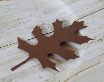 LARGE Leaf Die Cut, Leaf Tag, Thanksgiving Table Decor, Rustic Wedding, Fall Wedding Favor