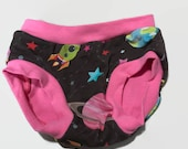 Child Undies - Pink Space - Size 3t - Ready to Ship Underwear
