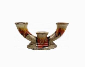 Bauhaus Design candlestick | German Pottery | Carstens Uffrecht