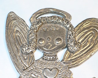 G.F. Jackson pewter Angel ornament.