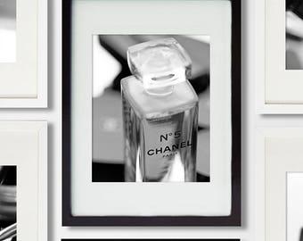 Chanel decor/black and white photography/bathroom art makeup print/Chanel girl room decor/nursery decor/girl teen decor/makeup photography