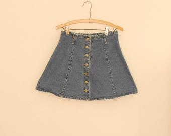 Blue Denim Mini Skirt - Early 90s