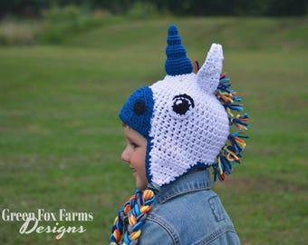 Kids Winter Hats | Crochet Unicorn Hat | Rainbow Unicorn Hat | Unicorn Winter Hat | Unicorn Beanie | Rainbow Crochet Hat | Unicorn Hat