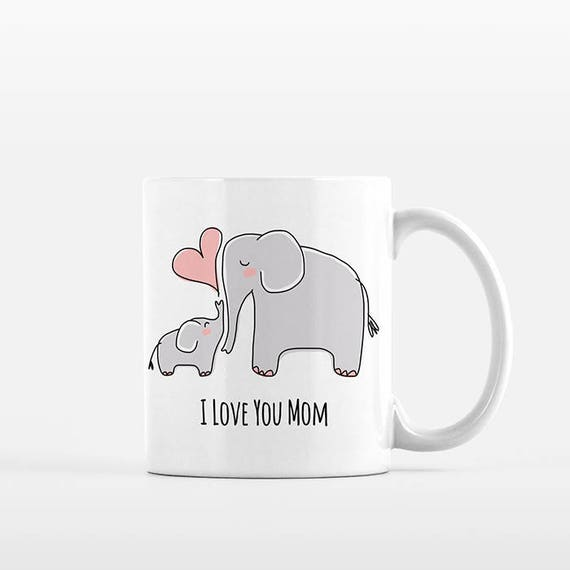 Mom Valentines Day Gift for Mom from Daughter Mom and Baby Elephant Mug New Mom Gift for Mom Mug Grandma Mug Grandma Gift Mom Coffee Mug