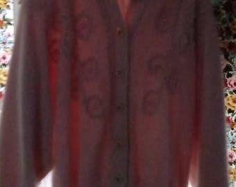 Belldini pink angora sweater