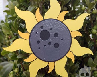 Great American Eclipse Commemorative Sun and Moon Holiday Ornament