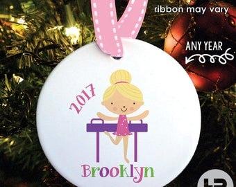 Gymnastics Ornament - Gymnastics Christmas Ornament - Personalized Kids Christmas Ornament with Year