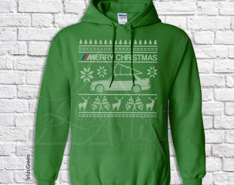BMW E30 Christmas Sweater - Hoodie - Hooded Sweatshirt