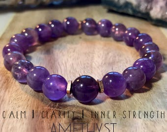 Amethyst bracelet. Gemstones. High-quality.