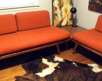 All Original Vintage Mid Century Day Bed, Table and Lounge Chair