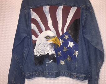 Hand Painted American Jean Jacket