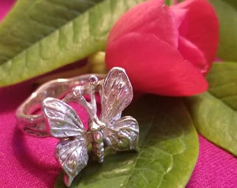 Sterling Silver Butterfly Ring (st - 2050)