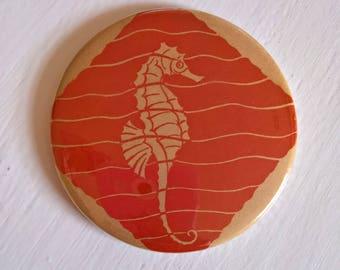 Summer Seahorse Vintage Magnets --- Retro Beach Ocean Fish Wildlife Home Decor --- Kitchen Refrigerator Office Mermaid Cool Stocking Stuffer