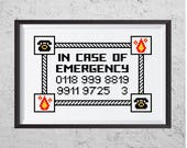 In Case Of Emergency - Funny Cross Stitch PDF - Instant Download