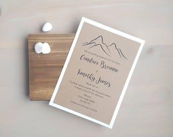 Wedding Invitations, Mountain Wedding, Country Wedding