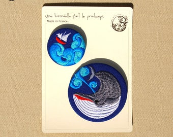 DUO embroidered brooches, revenge...