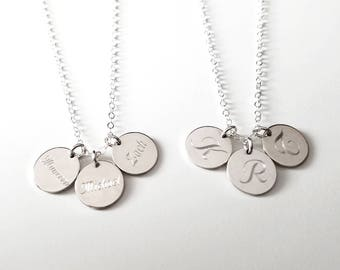 Triple Name Necklace Double Name Multiple Names Custom