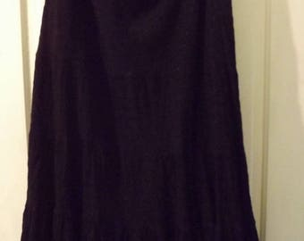 Black Majic Vintage Skirt Witchy Woman Bohemian Chic Ready To Ship FREE in USA