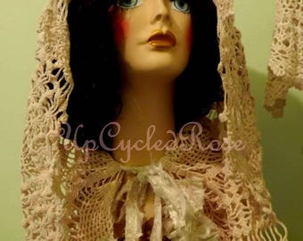 My Boho Life Hooded Crochet  Wedding Festival Forest Cape FREE Shipping in USA Can Ship Today!