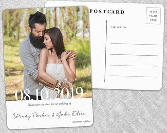 Bask in Love - Postcard - Save-the-Date