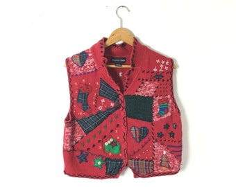 Ugly Christmas  sweater, m/l vintage Christmas sweater, tacky Christmas sweater,