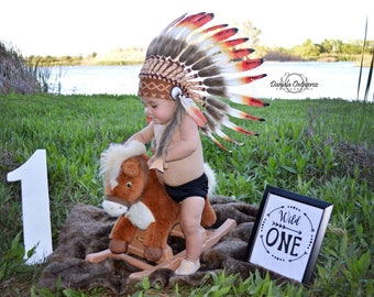 PRICE REDUCED - N01- For 9 to 18 month Toddler / Baby: three colours Headdress for the little ones !,