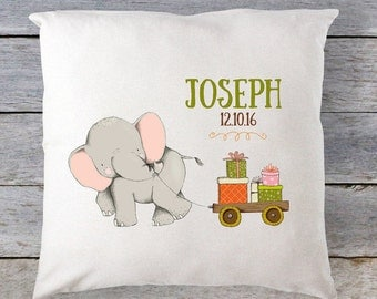 Baby Pillow, Baby Gift, Personalized Baby Pillow, Kids Christmas Pillow, Elephant  Pillow, Elephant Baby Gift, Deer Gift, Christmas Gift