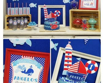 85% OFF   Nautical Party Printable   Nautical Birthday   Nautical Party Decorations   Nautical Birthday Printable   Epic Parties by REVO