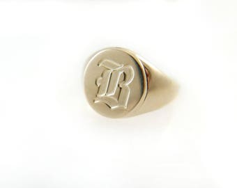 Pinky ring. Monogram ring. Unisex ring. Monogram ring. Initial ring. Gift for her.signet ring. Personalized ring. Personalized gift.
