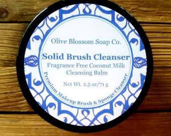 Fragrance Free Coconut Milk Cleansing Balm, Makeup Brush Cleanser, Makeup Brush Cleaner, Brush Shampoo, Makeup Artist, Vegan