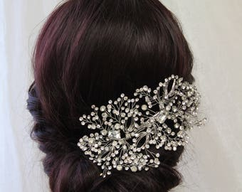 Wedding hair piece, Crystal Hair Clip, Wedding headpiece,  Bridal headpiece,  Bridal Crystal Clip, Bridal Accessories, UK