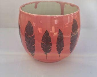 Porcelain Feather Cup