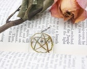 magic mushroom and moss pentacle resin pendant choker by DeadGoodJewellery witches nature pendle hill wicca pagan folk