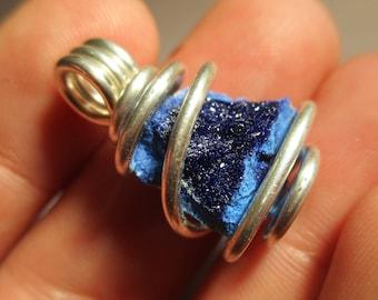 Azurite Pendant / Azurite Crystal / Azurite Necklace / Psychic Dream Stone / Intuition / Stress Reliever / Stimulate Third Eye
