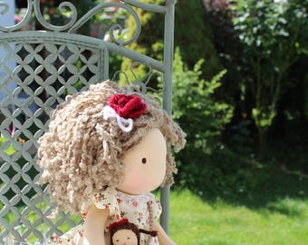 "Waldorf doll, 13,4"" tall doll steiner doll, organic doll,fabric doll, cloth doll, handmade"