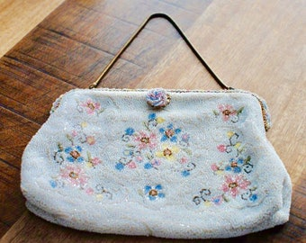 Vintage Jorelle by Llewellyn beaded Purse Made in France 1930's